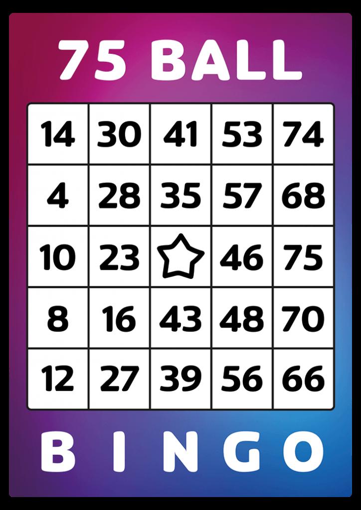one 75 ball bingo to print at home