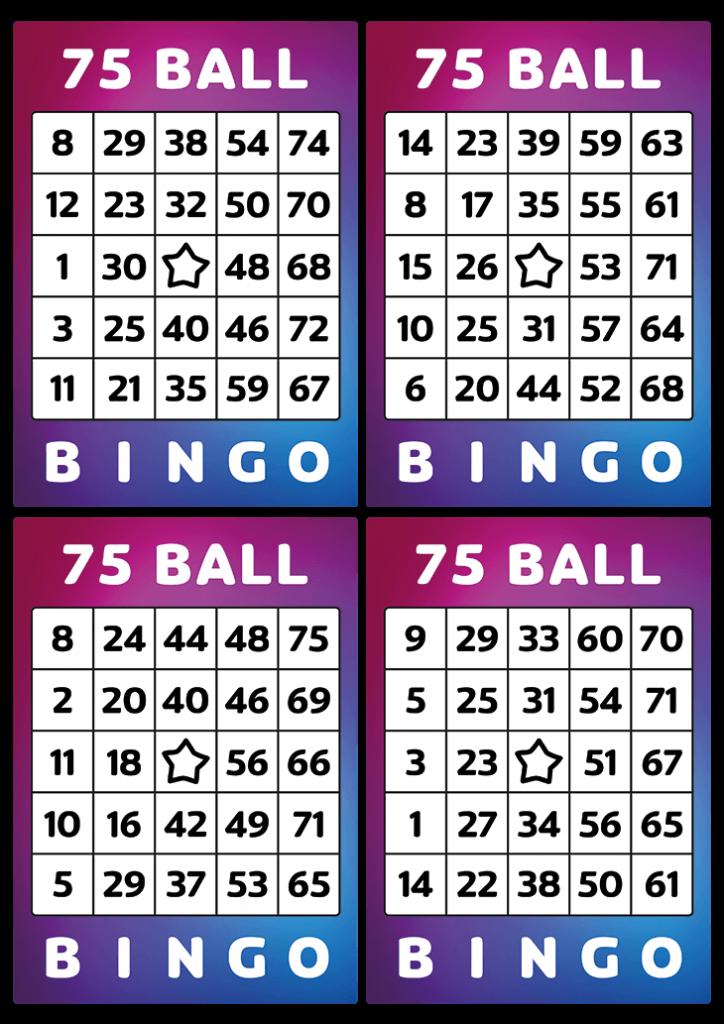 75 printable bingo tickets