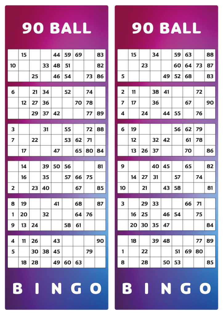 2 printable bingo tickets