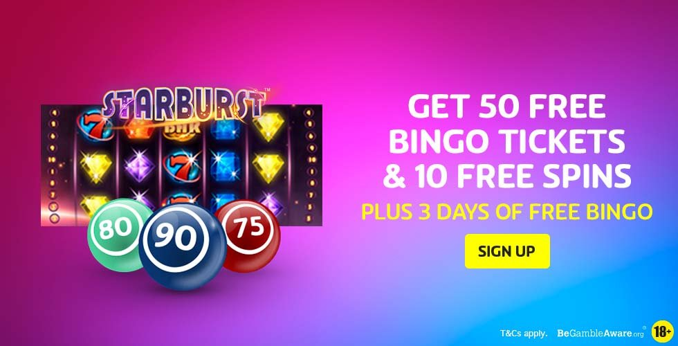 Get 50 Free Bingo Tickets & 10 Free Spins