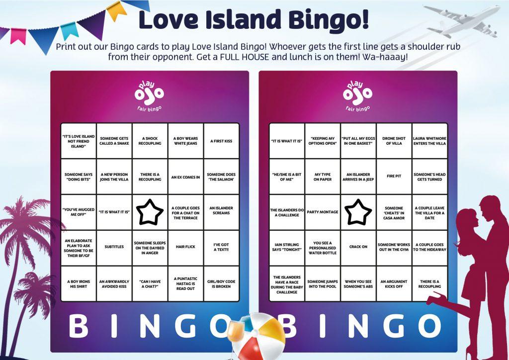kartu bingo yang dapat dicetak kalimat utama pulau cinta