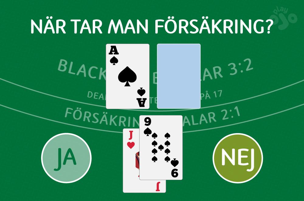hur blackjack försäkring fungerar